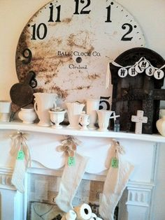 Love the mantle layout... stockings and all!!!