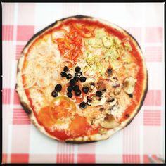 Yum... Veggie pizza in Spain