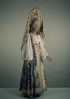 Woman's festive costume, 19th C. Russia. The State Hermitage Museum.