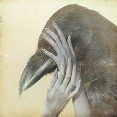 "Saatchi Art Artist: Natalia Lewandowska; Photography 2012 Collage ""Raven"""