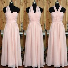 blush pink bridesmaid dress,long bridesmaid dress,convertible bridesmaid…