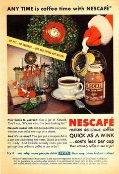 Vintage Christmas Nescafe Ad