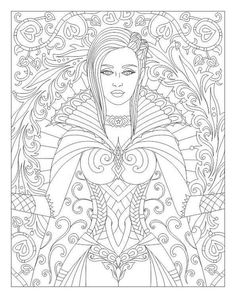 Cute Coloring Pages, Adult Coloring, Colouring, Stress, Fairy, Illustration, Goddesses, Mermaids, Witches