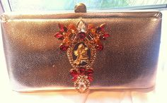 Vintage Clutch with Rhinestone Jewelry and by TheMakersChoice, $89.99
