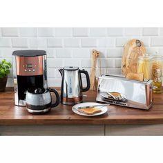 Buy Russell Hobbs 24320 Luna Filter Coffee Machine | Coffee machines | Argos Filter Coffee Machine, Drip Coffee Maker, Coffee Cups, Black Toaster, Russell Hobbs, Shabby Chic Kitchen Decor, Thing 1, Whitewash Wood, Vintage Coffee