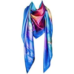 LEONA LENGYEL Rainbow Maker Scarf - Multicolour (33385 ALL) ❤ liked on Polyvore featuring accessories, scarves, multi colored scarves, viscose scarves, pink scarves, colorful shawl and wrap shawl