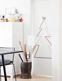 Kerstboom van masking tape
