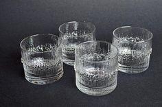Iittala Niva Glasses Designed by Tapio Wirkkala Ceramic Artists, Dinnerware, Shot Glass, Objects, Ceramics, Glasses, Tableware, Design, Products