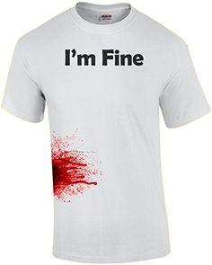 Im Fine - Zombie Shirt @ niftywarehouse.com #NiftyWarehouse #Zombie #Horror #Zombies #Halloween