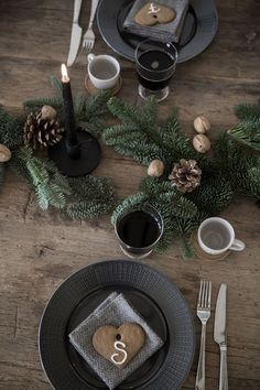 rustic christmas table setting More More