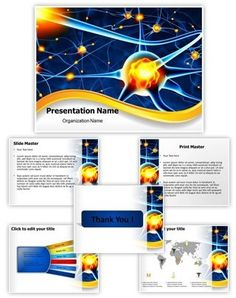 Neuron Powerpoint Template is one of the best PowerPoint templates by EditableTemplates.com. #EditableTemplates #PowerPoint #Synapse #Nervous #Neuron #Organism #Biological #Nerve #Neuron Cells #Receptor #Mind #Illustration #Disease #Impulse #Nucleus #Communication #Signal #Bio #Human #Axon