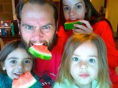 Shaytards and their watermelon!