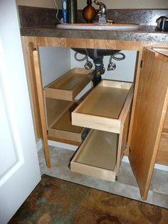 Image result for under sink storage http://homedecordesiign.info/category/kitchen/?1190372258