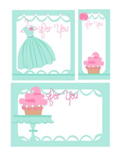 Cupcake and dress #printables #freebies