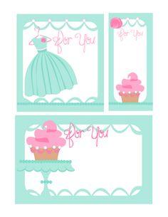 Cupcake and dresss printable #printables #freebies