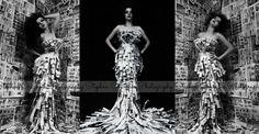Home made news paper dress #newspaperdress #dress #homemade #diy #photography #modeling #creative Newspaper Dress, Homemade, Crafty, Studio, Creative, Model, Diy, Photography, Dresses