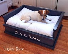 25 DIY Pet Bed Ideas...great pics even if you don't build a bed! from architechtureartdesigns.com