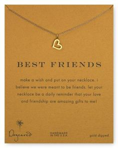 Dogeared Best Friends Loving Heart Pendant Necklace, 18"