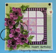 Selma's Stamping Corner and Floral Designs: Anemone Happy Birthday Card