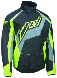 Fly Racing Mid Layer Jacket Zip-Up Winter Track Jacket Warm-ups