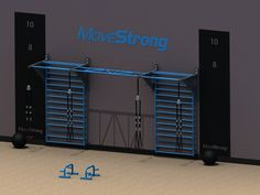 Specially designed MoveStrong Stall bars are available to go between two  MoveStrong pull-up brackets for additional pull-up bar options or they are  available as flush mount to a wood stud, block, or concrete wall. All steel  and USA made built to last in home or a commercial setting.  Stall B