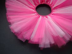 Bubblegum tutu: Newborn tutu, tulle tutu, infant tutu, baby tutu, baby girl tutu, girl tutu, ballerina, princess tutu. $13.00, via Etsy.