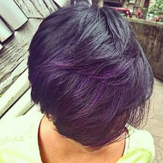 However subtle… | 17 Pictures That Prove Brown Girls Look Spectacular With Dyed Hair  (this, pastely purple)