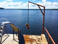 Boat Dock Rope Swing - About Dock Photos Mtgimage. Lake Dock, Boat Dock, Docks Lake, Eging Am See, Haus Am See, Floating Dock, Lakefront Property, Rope Swing, Boat Lift