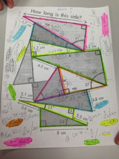 Trigonometry & Pythagorean theorem Common core geometry activity highlight and color coordinate! Teaching Geometry, Geometry Activities, Teaching Math, Math Activities, Math Teacher, Math Classroom, Teacher Cards, Pythagorean Theorem, Precalculus