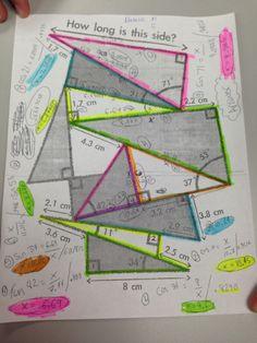 Trigonometry & Pythagorean theorem Common core geometry activity