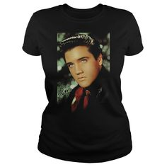 Elvis Red Scarf T-Shirts, Hoodies. Check Price Now ==► https://www.sunfrog.com/Music/Elvis--Red-Scarf-Ladies.html?id=41382
