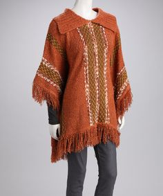 Take a look at this IB Diffusion Camel Poncho by Prime Garments & Boom Boom Jeans on #zulily today!