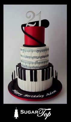 .piano music cake  @Haley Allen wouldn't this be better than the shoes lol :)