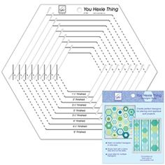 """You Hexie Thing - Hexagon Ruler $23.99 June Taylor. Cuts up to 6"""" finished side from strips."""