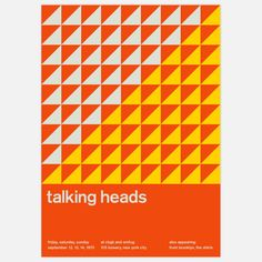 Graphic designer Mike Joyce started Swissted to fuse his love of punk rock and Swiss modernism. | Talking Heads, 1975 17x23.75