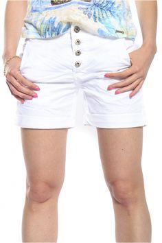 Maryley White boyfriend Art B67B shorts