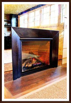 nice fireplace surround.