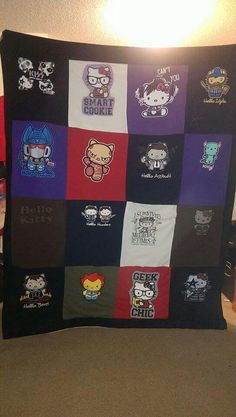 Nans Hello Kitty College Quilt