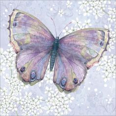 Purple Butterfly. A beautifully designed blank card - perfect for so many messages.  Buy any 10 cards for only £14 - shop now: http://tinyurl.com/jprot9g