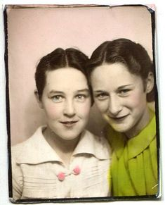 Vintage photo booth pictures