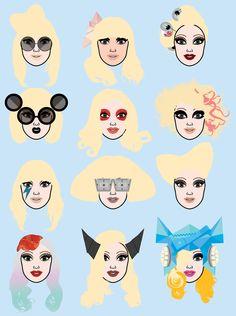 Lady Gaga Hair #art
