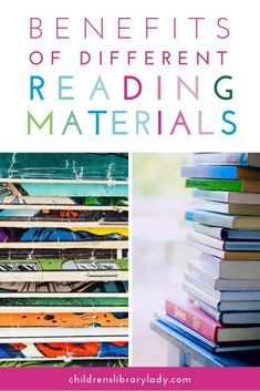 Using different types of reading materials books gives struggling readers the opportunity to develop their confidence and a greater interest in reading. Having magazines, non-fiction books and graphic novels, etc around the classroom provides children with greater access to reading material and more opportunities for reading. #childrenslibrarylady #kidsbooks #strugglingreaders #teachingreading