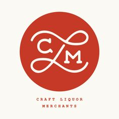 craft liquor merchants | logo #design - logo - logo design - branding - logo mark - circle logo - monogram