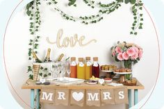 Our DIY mimosa bar is exactly what you need to take your engagement or other special occasion brunch to the next level. Not only is our seven-step guide to making the perfect mimosa bar easy, but it lets guests join in on the fun and make their own drinks—leaving you to enjoy the party along with them.