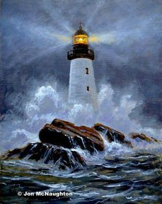 : Old Lighthouse Lighthouse Drawing, Lighthouse Art, Lighthouse Storm, Seascape Paintings, Landscape Paintings, Landscape Photos, Art Photography Portrait, Portrait Art, Scenic Photography