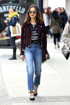 Get Jamie Chung's Cool Suede Moto Jacket Look | Le Fashion | Bloglovin'