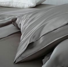 Ultimate Luxury Silver Grey Silk Pillowcase Pillowcases, Silk, Luxury, Grey, Shopping, Gray, Pillow Case Dresses, Pillow Protectors, Pillow Covers