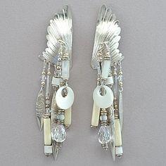 Tabra Vintage Sterling Silver Winged Earrings