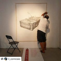 #Repost @il_corniciaio ... eccoci qui #  dopo tre mesi di #esposizione ha chiuso la #biennaledisegno... questa #mattina aiutiamo l'#amico #agimsulaj a smontare le sue #opere # ... per poi mandarle a #londra a un #concorso internazionale di #disegno # ... #ilcorniciaio #gianlucazamagni #angolodellacornice #rimini #italy #cantieredisegno #art #contemporaryart #artcontest #mybiennalern  #artcollective #artist # #mywork #around # #followart