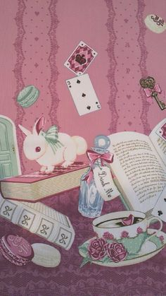 Alice in Wonderland Wallpaper Kawaii Wallpaper, Disney Wallpaper, Iphone Wallpaper, Art Kawaii, Whatsapp Wallpaper, Alice In Wonderland Tea Party, Lewis Carroll, Adventures In Wonderland, Through The Looking Glass